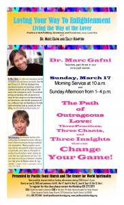 Loving Your Way To Enlightenment flyer for March 17